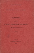 Convention relative au statut international des réfugiés, du 28 octobre 1933